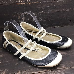 Juicy Couture Mary Jane Quilted Flats Size 9.5